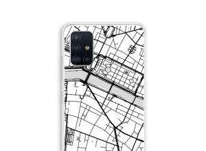 Bringen Sie einen Stadtplan auf Ihr Galaxy A51 case
