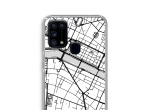 Bringen Sie einen Stadtplan auf Ihr Galaxy M31 case
