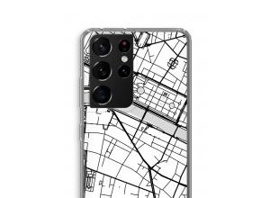 Bringen Sie einen Stadtplan auf Ihr Galaxy S21 Ultra case