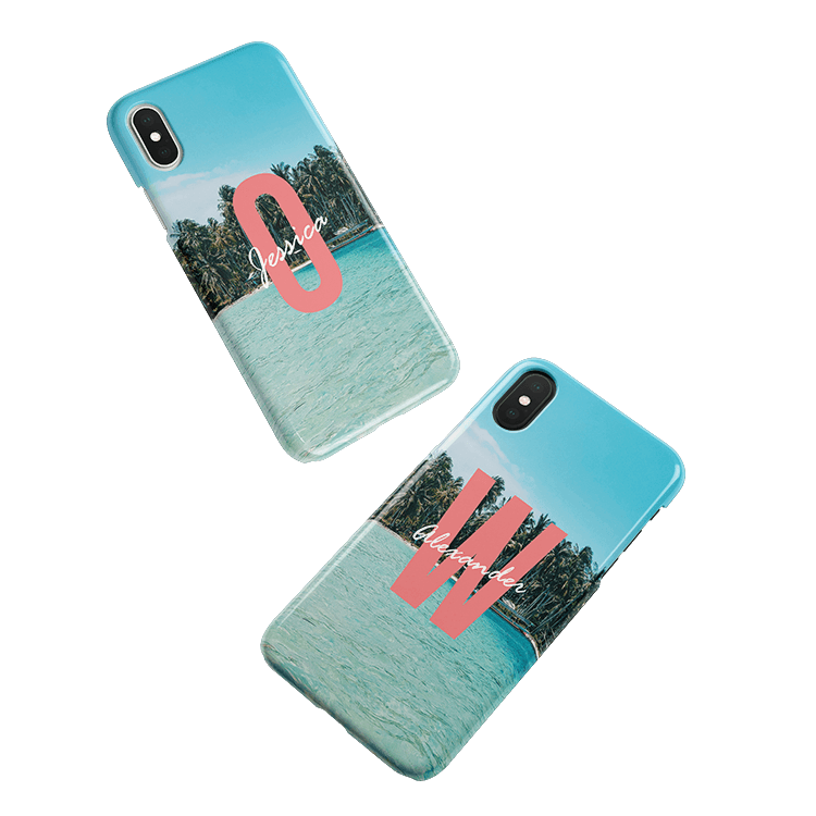 Put your monogram on a iPhone 8 Plus smartphone case