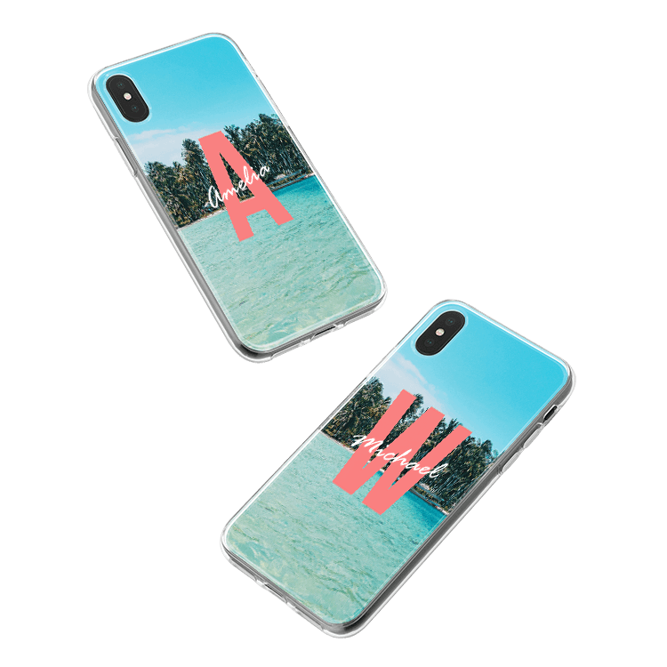 Put your monogram on a Samsung Galaxy A6 (2018) smartphone case